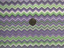 Cotton Chevron Fabric Green Purple White Chevron OOP Quilt Shop Quality Cotton