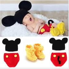 Newborn Baby Girl Boy Crochet Knit Mickey Mouse Costume Photo Photography Prop