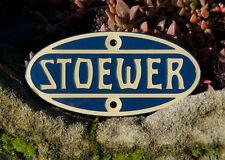 SEHR SCHÖNES EMAILLE AUTO EMBLEM / PLAKETTE # STOEWER STETTIN