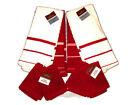8 PC Set Red & White Striped Kitchen Towels Dishcloths True Living Cotton Set
