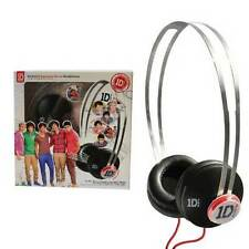 Genuine One Direction Cuffie Nere con snapcaps 1D In Ear Cuffie