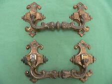 2 grosses poignées pendantes piano laiton anciennes tiroirs largeur 16,2 cm