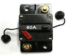 CB60 marine 60 Amp Resettable 12 V / 24 V Fuse Circuit Breaker w/ FREE COVER