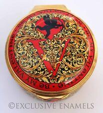 Halcyon Days Enamels St Valentines 2010 New In Box Enamel Box