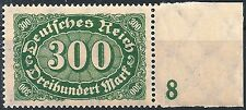 """MiNr. 249 vom rechten Seitenrand mit Plattennummer """"8"""" postfrisch"""