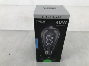 Feit Electric Smoke Glass 40W/7.5W LED Vintage Light Bulb - Daylight