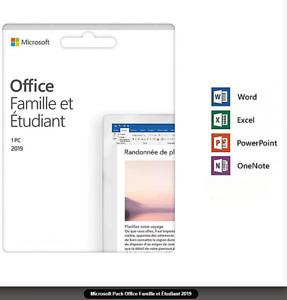 Microsoft Office Home and Student Famille et étudiant 2019 (79G-05152)