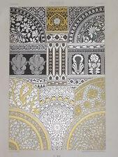 ART DECO INDIEN RACINET LITHOGRAPHIE Art Decoratif Nielles Plats INDE 1870