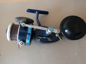 Mitchell 410A Garcia Blue Spinning reel with spare spool, made in France H15 205