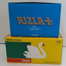 600 RIZLA PAPERS BLUE & 600 FILTER TIPS SWAN EXTRA SLIM