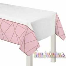 WEDDING AND BRIDAL Blush PLASTIC TABLE COVER ~ Party Supplies Cloth Rose Gold