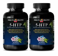Anxiety Relief - 99% PURE 5-HTP - weight loss - l-5 htp- 2 bottles-120 capsules