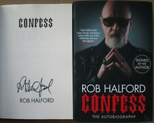 More details for rob halford-signed book-autobiography-confess-judas priest.