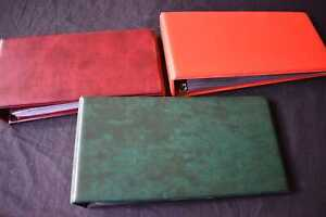 3x Empty Albums for Covers/FDCs etc, 99p Start