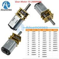 3V/6V/12V GA12-N20 DC Gearmotor Micro Gear Motor Metal Gearbox 15-2000RPM