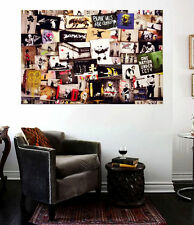 Banksy Grafitti Street Art Collection Huge 30x20 Wall Decal Collage peel n stick