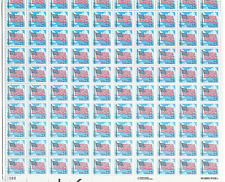 Scott # 2278...25  Cent...Flag...Sheet with 100 Stamps