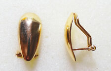 NON PIERCED INTERCHANGEABLE Gold Tone Clip On Omega Earrings MADE in the USA
