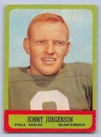 1963  SONNY JURGENSON - Topps Football Card - # 110 - PHILADELPHIA EAGLES - (SP)
