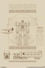 TRANSFORMERS ~ OPTIMUS PRIME SKETCH ~ 22x34 CARTOON POSTER ~ GENERATION 1