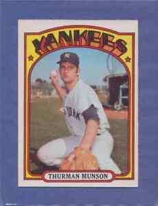 1972 OPC O-Pee-Chee Thurman Munson #441 New York Yankees NM-MT Pack Fresh