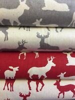 New 2017 Christmas FQ STAGS Scandinavia Fabric Material 100 % Cotton Jon Louden