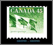 CANADA 1992 CNAADIAN MAPLE LEAF FLAG FACE 45 CENT MNH PRINT SHIFTED STAMP ERROR