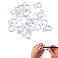 50pcs Disposable Ring Pallet Holder Eyelash Extension Tattoo Pigment Single Well