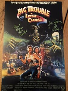 Big Trouble in Little China JAMES HONG Hand Signed 17x11 Photo. Rare Quote.