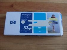 GENUINE HP #83 CYAN UV CARTRIDGE C4941A DESIGNJET 5000 5500 FACTORY SEALED