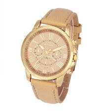 Luxury Womens Watches Roman Numberals leather Analog Quartz Wrist Watch Relogio