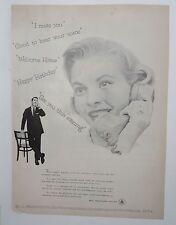 Original Print Ad 1956 BELL TELEPHONE SYSTEM Vintage Operator