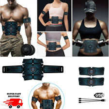 EMS Abdominal Muscle Toning Trainer ABS Stimulator Toner Fitness Gym Belt Pads