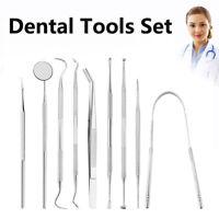 Stainless Steel Dental Tool Teeth Clean Probe Tweezer Periodontal File Oral Care