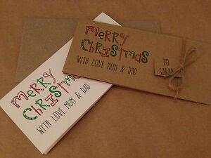 Personalised vintage/retro Christmas Money / Voucher Wallet