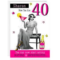 FEMALE BIRTHDAY GREETING CARD - *Personalised* Funny Joke ANY NAME, RELATION