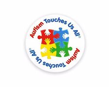 Autism Awareness Car Magnet - Autism Touches Us All lot of 3