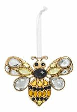 Sweet Bee Sunshine Yellow 3 x 2 Acrylic and Zinc Decorative Hanging Ornament