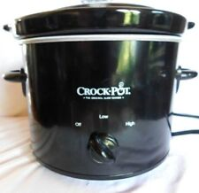 Crock-Pot 2 Quarts QT Round Manual Slow Cooker Cooking Kitchen Home Black