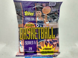 1993-94 Topps NBA Basketball Series 1 Sealed Cello/Jumbo Card Pack Jordan Gold?