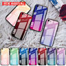 For iPhone 11 Pro MAX XS XR X 6 6S 7 8 Plus Gradient Tempered Glass Case Cover