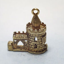 14k gold vintage BLOODY TOWER charm OPENS