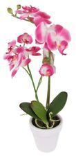 Orchidée artificielle rose 2 Panicules FLEURS plantes d'intérieur 45cm