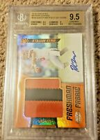 2018 Baker Mayfield Certified Freshman Fabric Rookie Patch Auto RC /99 BGS 9.5