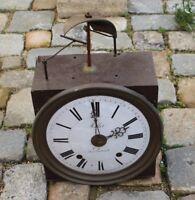Mouvement d'Horloge Comtoise cloche cassée MILLOT LORIENT gros cadran 30cm 27X29