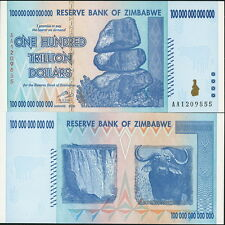 ZIMBABWE P-91 $100 TRILLION BILL + FREE ZAMBIBWE $100 QUADRILLION PARODY BILL!