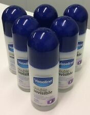 6 X 50ml Vaseline Pro Derma Double Invisible Roll on Antiperspirant 48 Hours