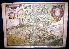 Abraham Ortelius 1527-98 Nobilis Hannoniae Comitatus Descrip. 1579 Karte Belgien