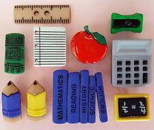 PENCIL BOX Children School Lessons Apple Book Teacher Dress It Up Craft Buttons