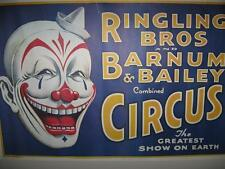 VINTAGE RINGLING BROTHERS AND BARNUM & BAILEY COMBINED CIRCUS POSTER (NEAR MINT)